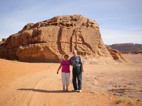 The author and his wife at Wadi Rum