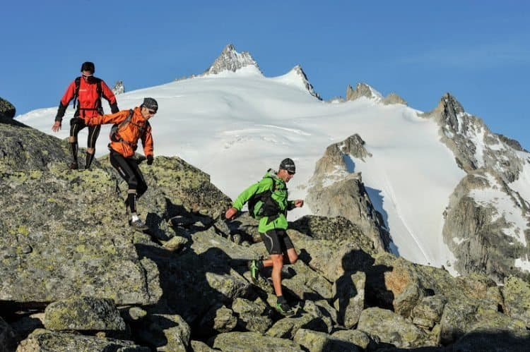 Trail running in Mont Blanc area. Pascal Tournaire photo.