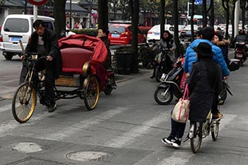 China: Bumping Along Crowded Bike Lanes