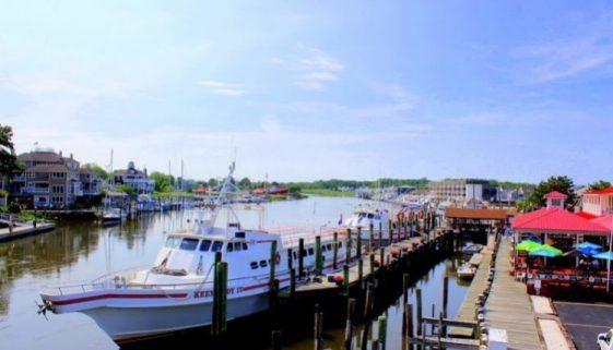 Fishermans Wharf in Lewes, Delaware.