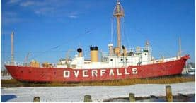 The historic lightship Overfalls in Lewes, Delaware.
