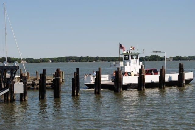 Oxford Bellevue ferry, a five-minute trip.