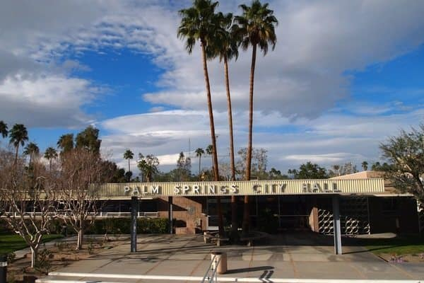 Palm Springs city hall is a highlight of the city's many mid-century classics.