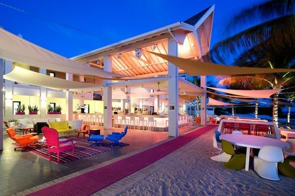 Papagayo Design Hotel's beachfront in Curacao.