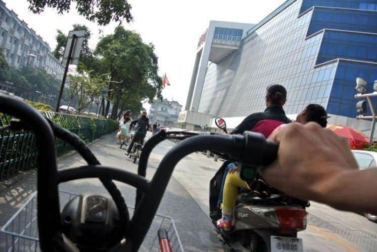 The view from the bike seat.