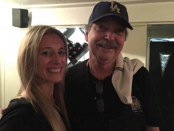 Shaena Stabler and Michael Leach, owner of Cafe Zoolu in Laguna Beach.