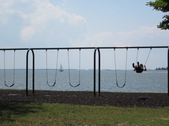 A memorable swingset on the Tred Avon river in Oxford Maryland. Meredith Bower photos.