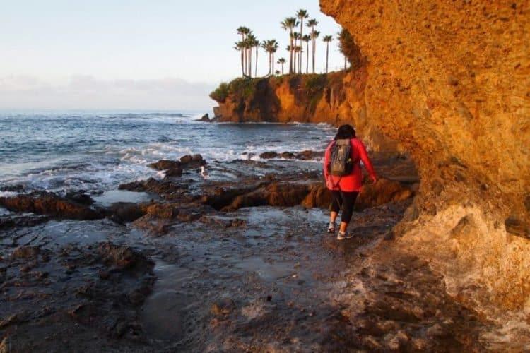 Early morning tidepool exploring at Treasure Island Park in Laguna Beach California.