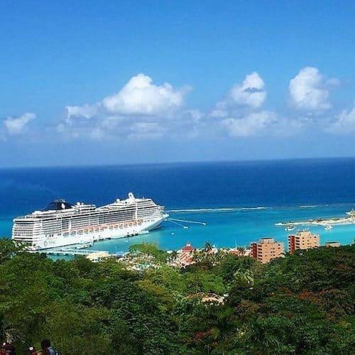An MSC ship cruising near Mexico.