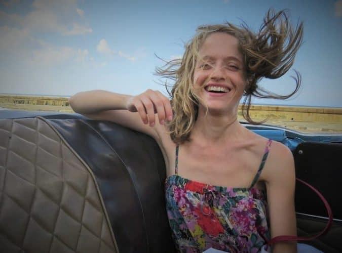 Anne Marie Dimech on Havana's Malecon.