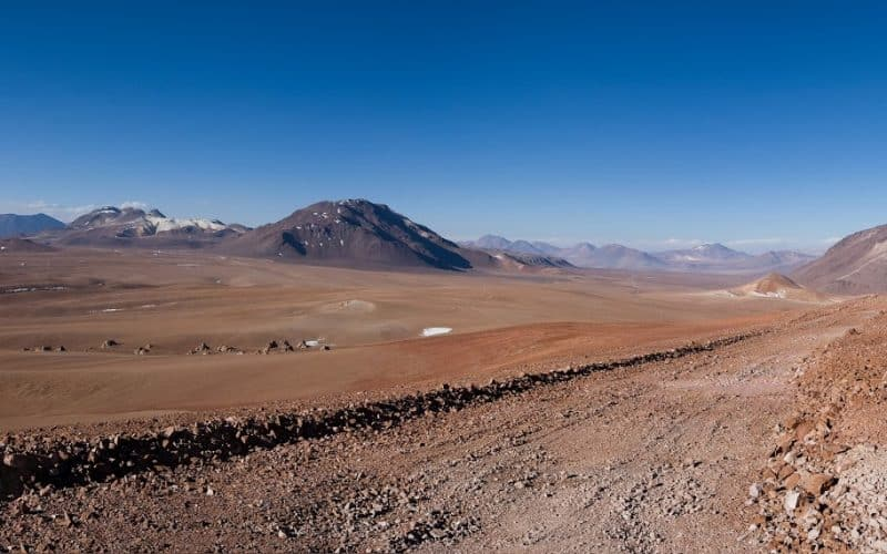 Chajnantor Plateau in the Chilean Andes.