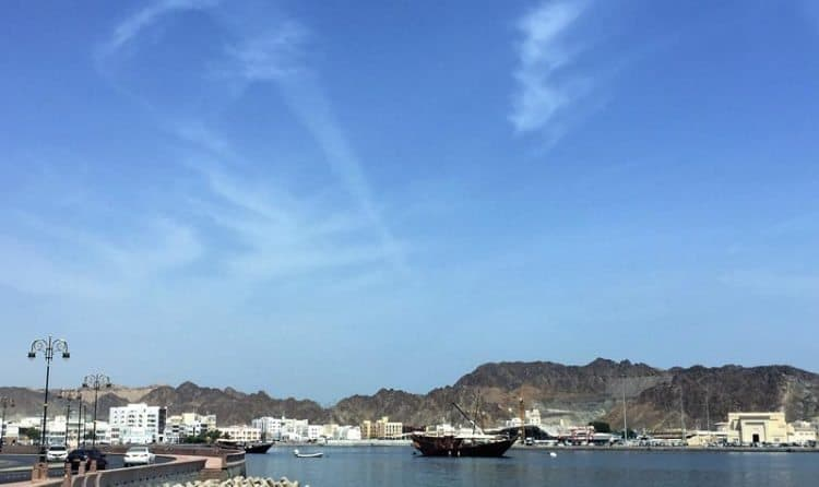 Dhow in Muttrah Harbor, Muscat, Oman.