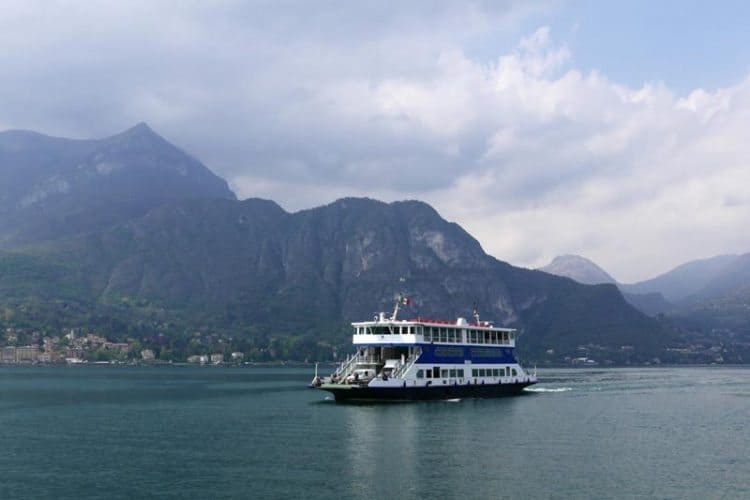 The Lake Como ferry. Shelley Rotner photo.