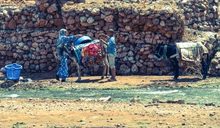 Local women doing laundry.