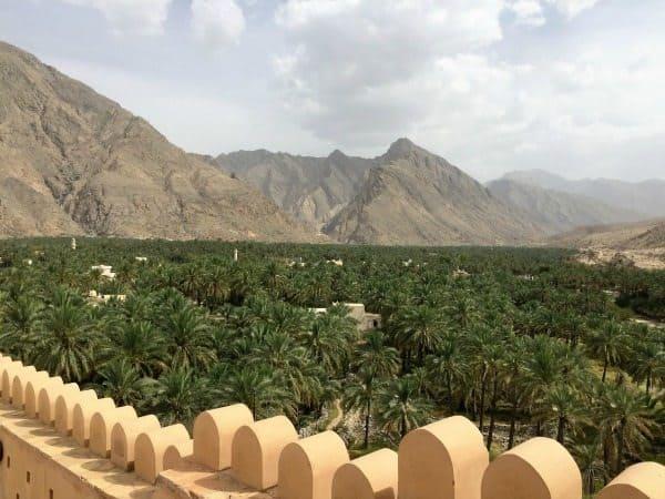 The Al Hajar Mountains from Nakhla II near Muscat Oman.