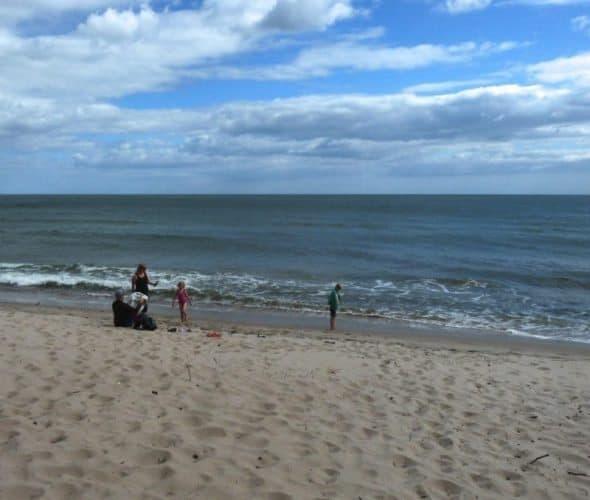 A beach in Skane, on the Baltic sea.