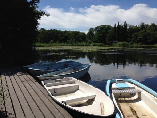 Boats at Svaneholm castle.