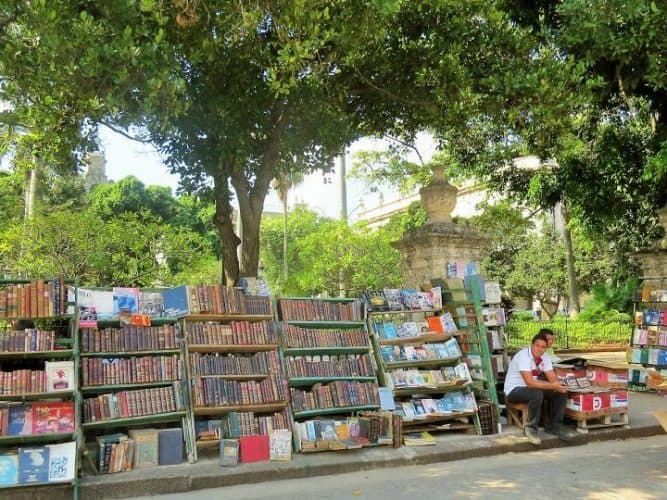 bookstalls in Old Havana