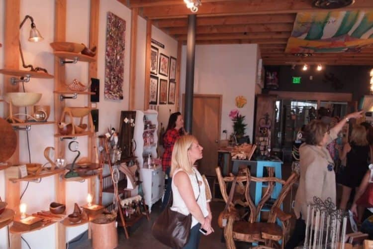 Shopping in one of the many boutiques at the 18B Arts District in Las Vegas.