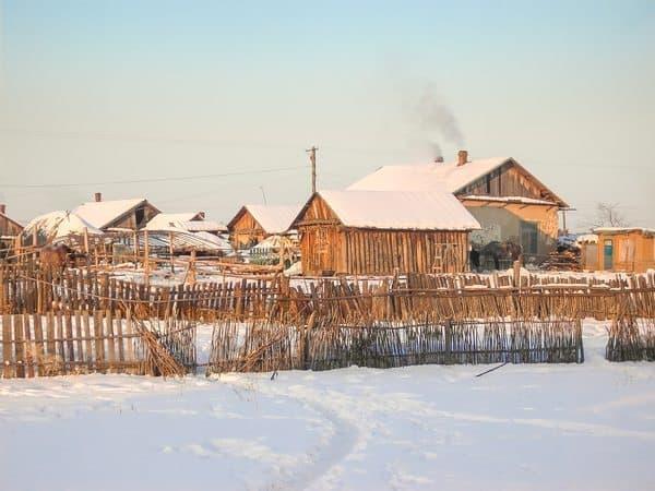 The chilly village of Bei Ji Tun, Heilongjiang China