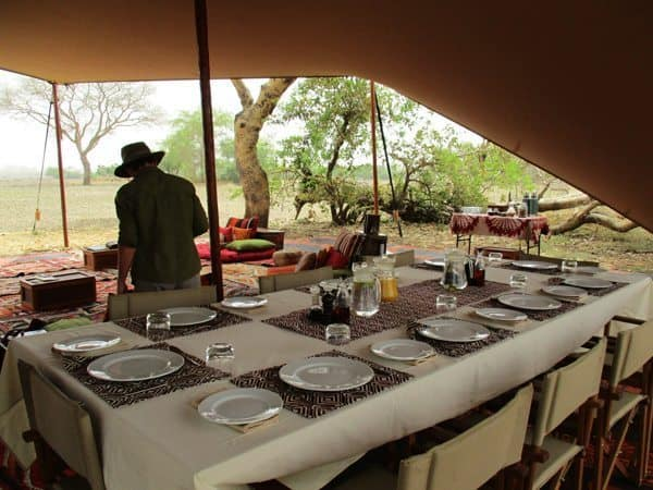 The dining table at Camp Nomade, Chad.