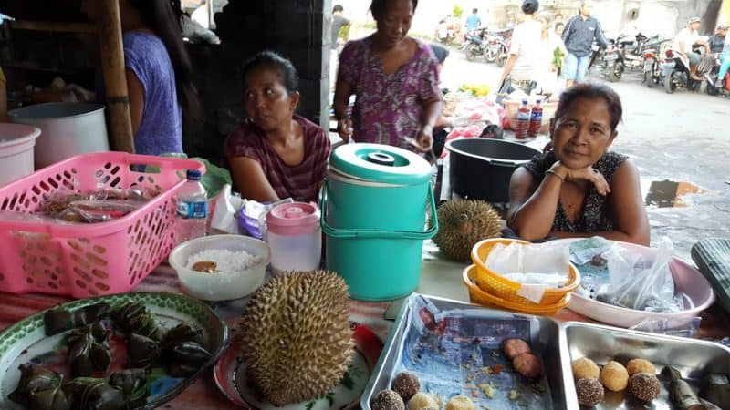 Durian fruit at the market in Bali. Have you ever smelled this fruit? Some find it disgusting, others love the smell and taste.