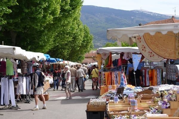 Bedoin traditional Provencal market.