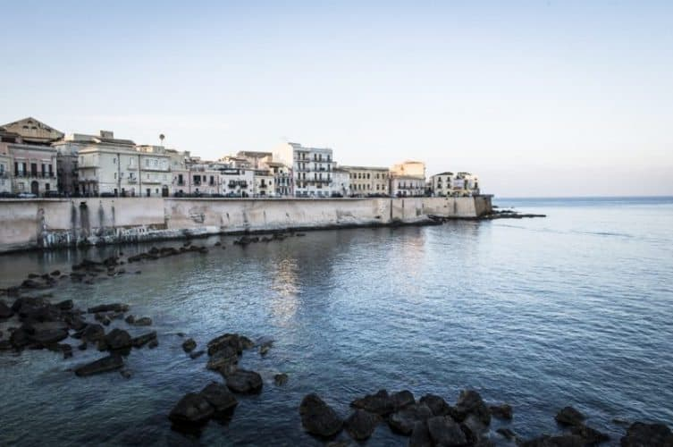 Ortygia waterfront in Sicily. Marina Pascucci photo.