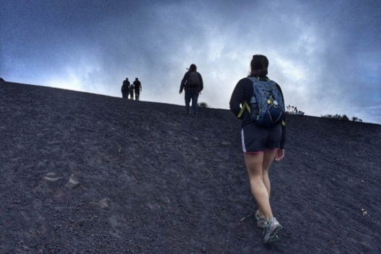 Hiking up Volcan Pacaya, near Antigua, Guatemala-- a challenging experience but definitely the best trip for casual hikers. Kris Fronzak photos.