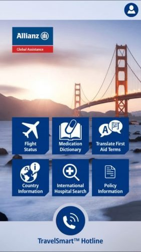 The Allianz Travel App has many cool features for travelers.