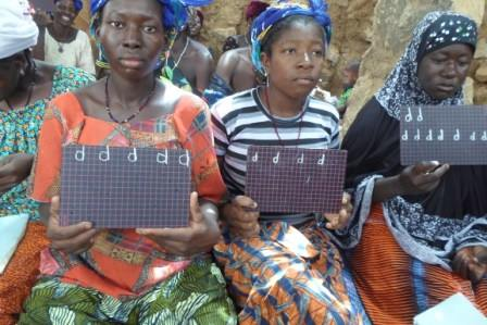 Women attending class in Mali.