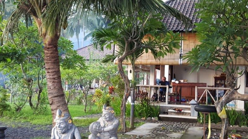 The lounging porch at Segara villas in Bali.