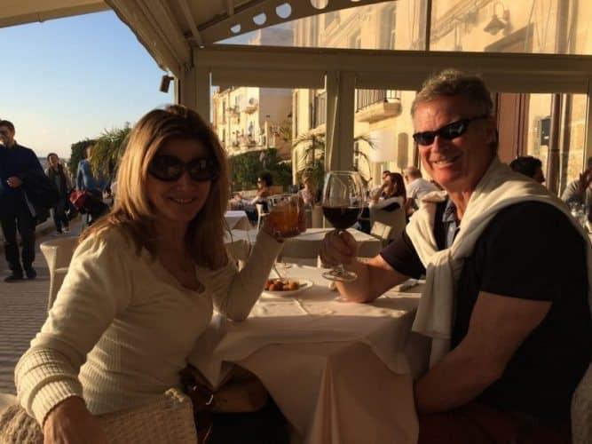 Marina Pascucciand John Henderson in Sicily.