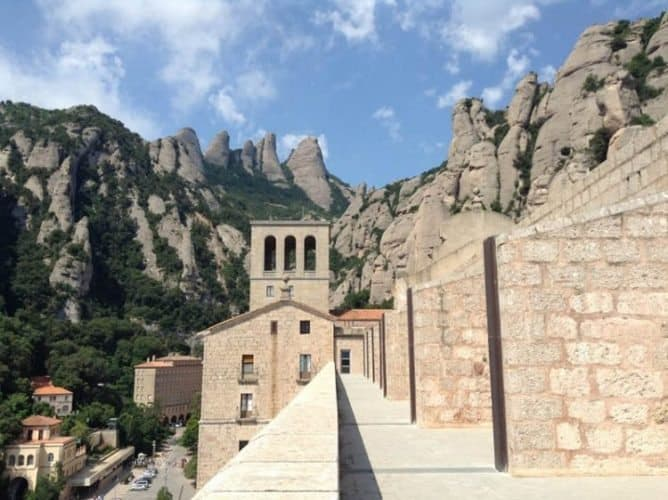 View of Montserrat Mountain from above the church.
