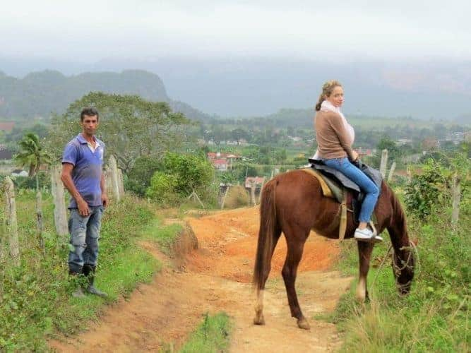 Horseback riding in Vinales, Cuba.