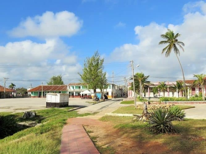 The somewhat deserted streets of Gibara, Cuba.