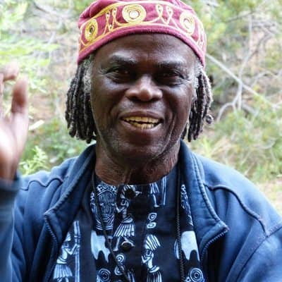 African drummer at last year's Santa Fe International Folk Art Market.