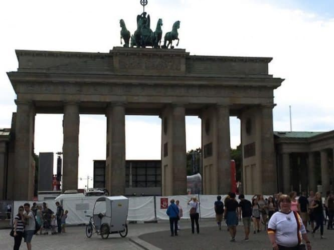 Throughout history, the Brandenburg Gate has done double duty as a stage.