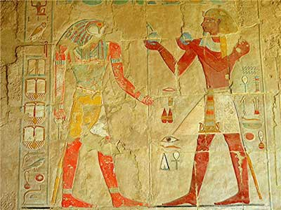 Detail in the tomb of Hatshepsut