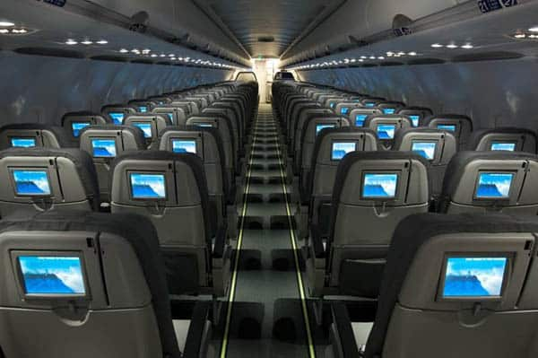 Every seat has a satellite TV connection on JetBlue.