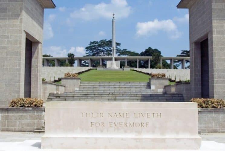 Kranji War Memorial from World War II, in Singapore. Asiaphotostock photos.