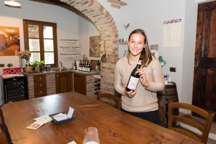 Michela Adriano of Adriano Marco e Vittorio winery. She's only 20 years old but she's already a winemaking pro!