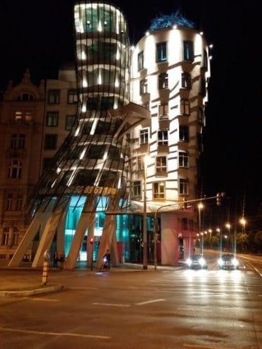National-Nederlanden building on Vtlava waterfront, or the Dancing House.