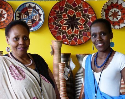 Sisal baskets from Rwanda.