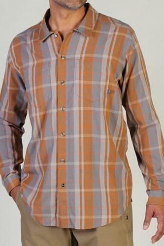 Talisman Plaid long sleeve mens shirt. Style and practicality make this line a winner.