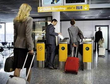 Self boarding gates in Germany. This is coming to an airport near you.