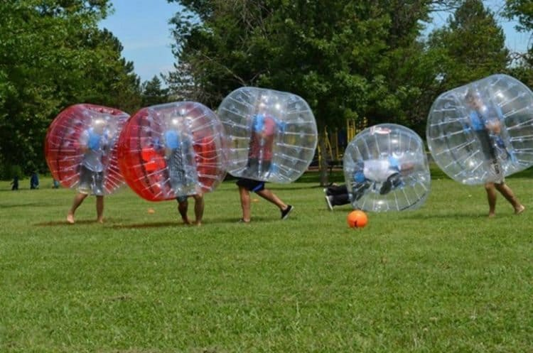 How to ship huge Bubbleballs like this? Roadie did this for an event in Atlanta recently.