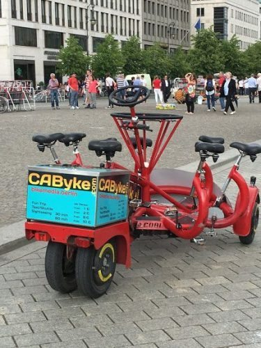 Berliners are bikers and several companies offer tours on these multi-person circular bicycles.