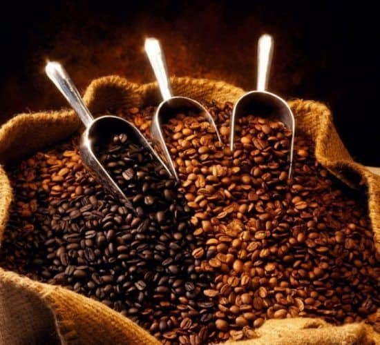 coffee beans display