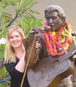 Connie Maria Westergaard with Elvis in Hawaii
